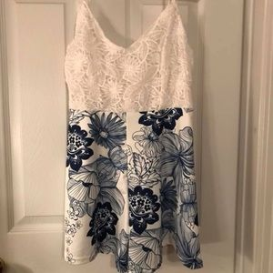 Other - Blue and white romper